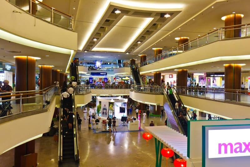The Garden Shopping Mall, Malaysia. Center of the Garden Shopping Mall with stairs, Kuala Lumpur, Malaysia royalty free stock photos