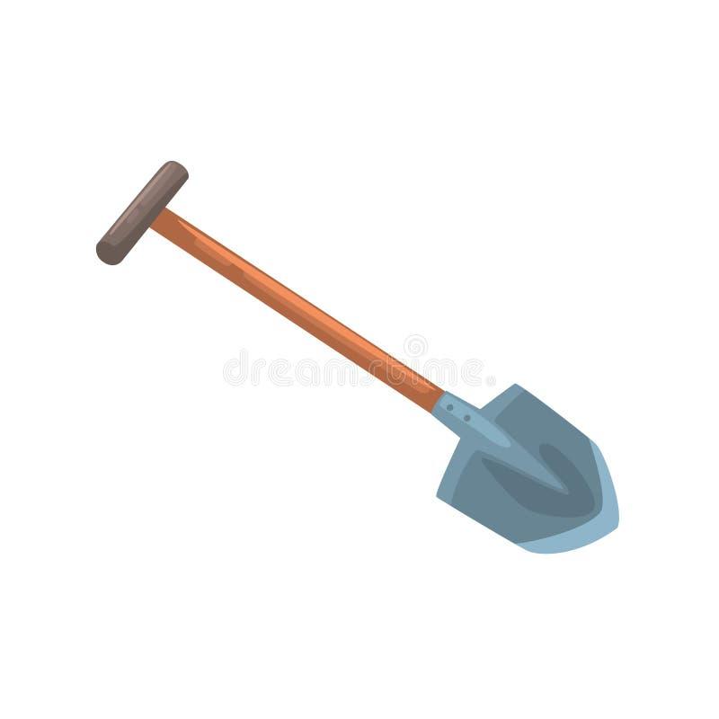 Garden shovel, agriculture tool cartoon vector Illustration stock illustration