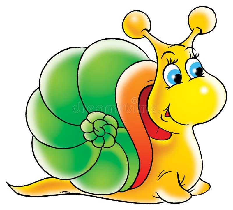 Garden snail royalty free illustration