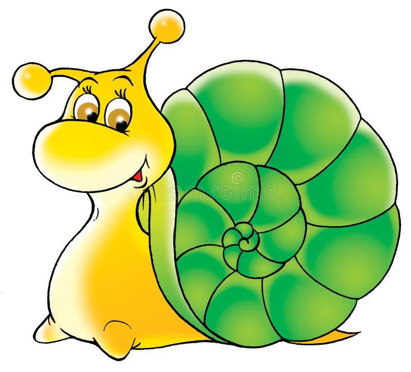 Garden snail stock illustration