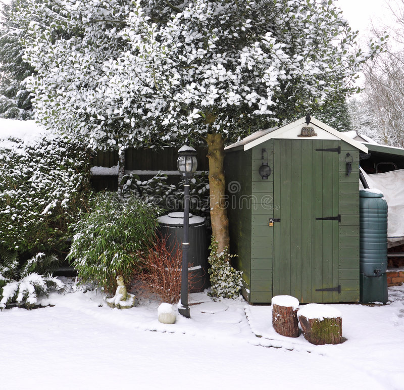 Download Garden in the Snow stock image. Image of winter, seasons - 8057183