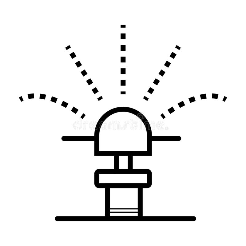 Garden sprinkler icon. Automatic lawn watering system vector ill royalty free illustration