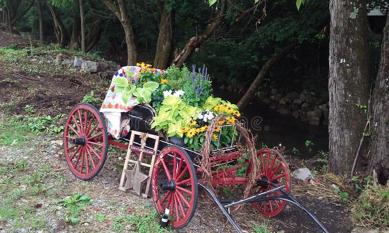Garden stagecoach royalty free stock images
