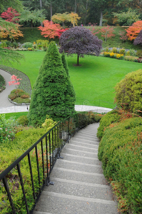 Garden Stairway Royalty Free Stock Images