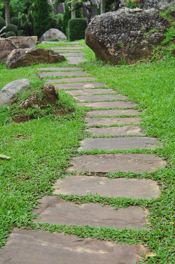 Download Garden stone path stock image. Image of green, foot, pathway - 21292641