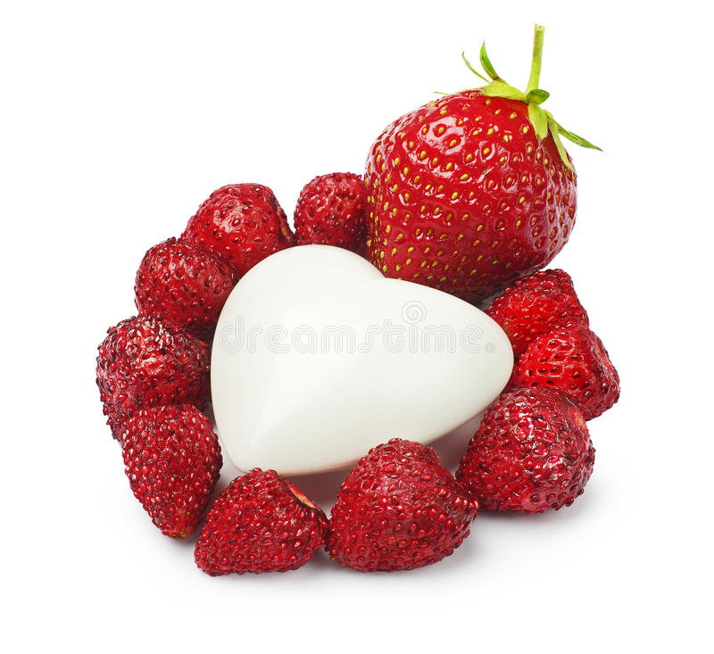 Download Garden Strawberry And Heart Closeup Royalty Free Stock Photo - Image: 25490395