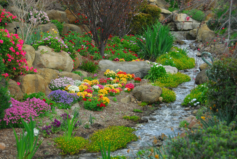 Garden Stream stock photography