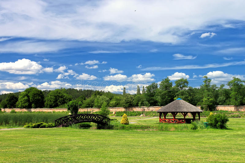 Download Garden In The Summer Scenery. Stock Image - Image: 23868509