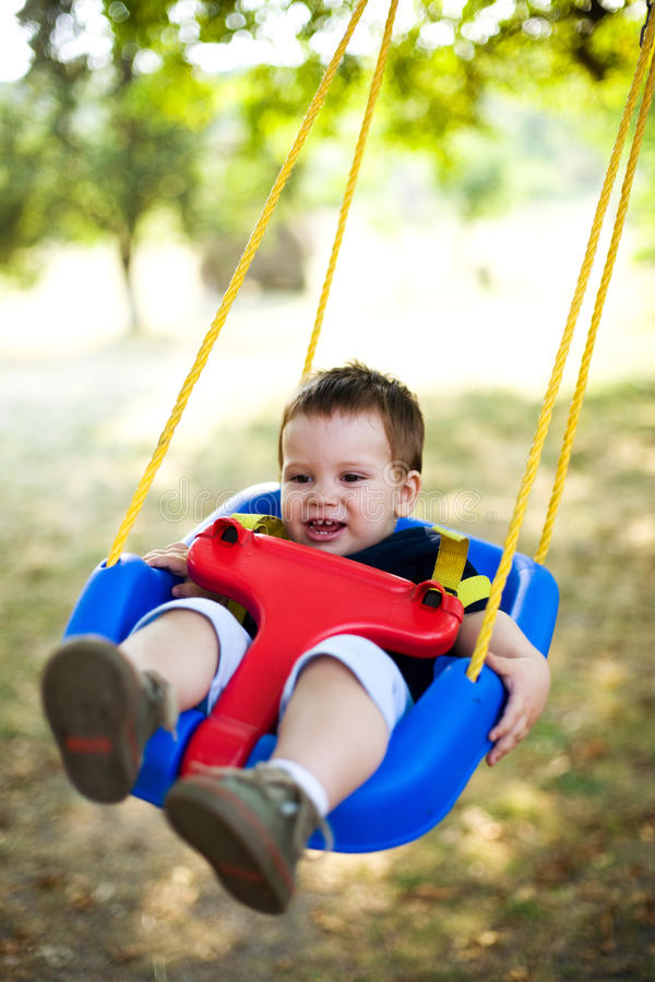Garden swing royalty free stock photos