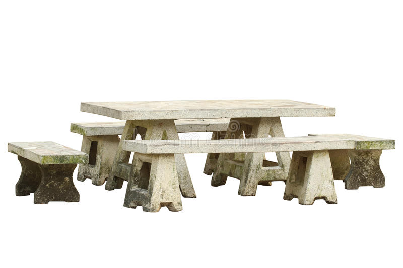Garden table and chair set. (with clipping path) isolated on white background royalty free stock photo