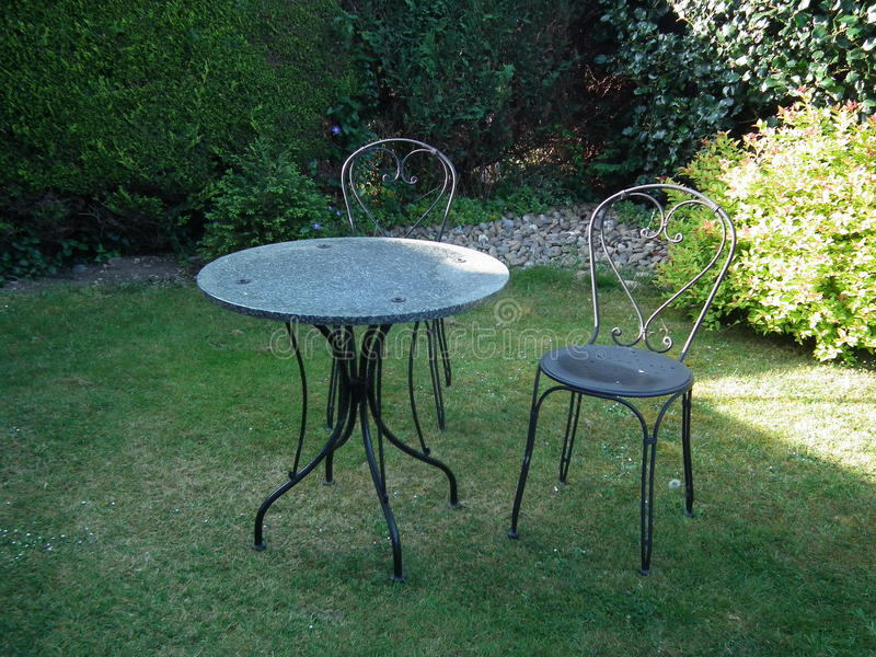 Garden Table and Chairs stock images