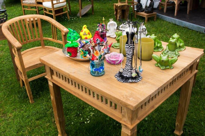 Garden table royalty free stock photography