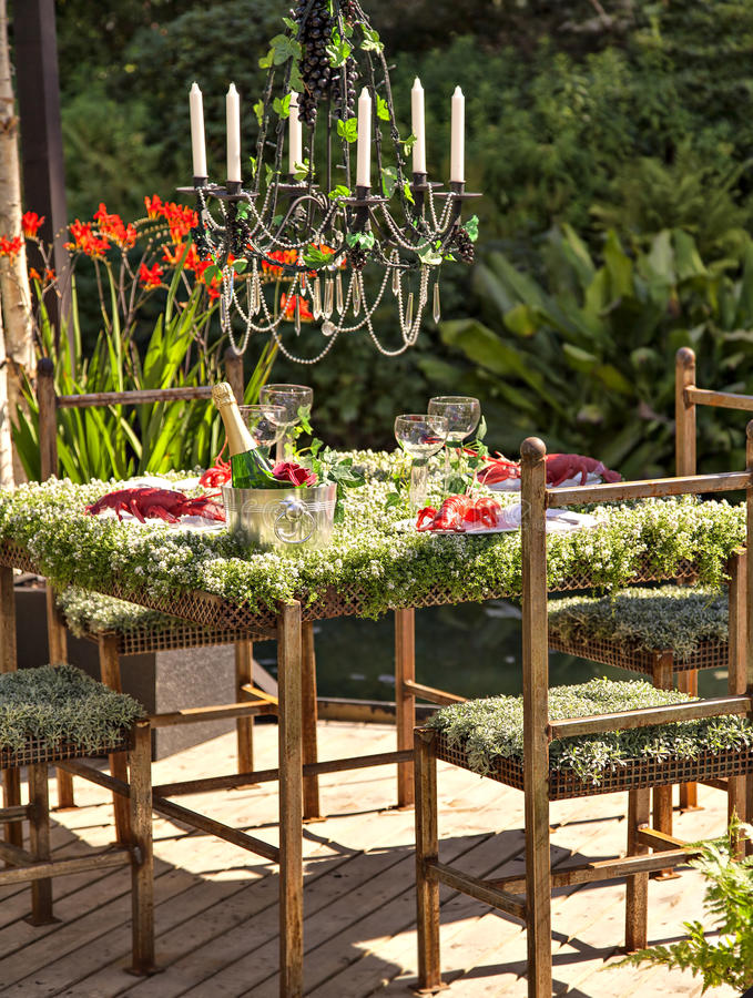 Download Garden table setting stock image. Image of decking decoration - 39626939 & Garden table setting stock image. Image of decking decoration ...