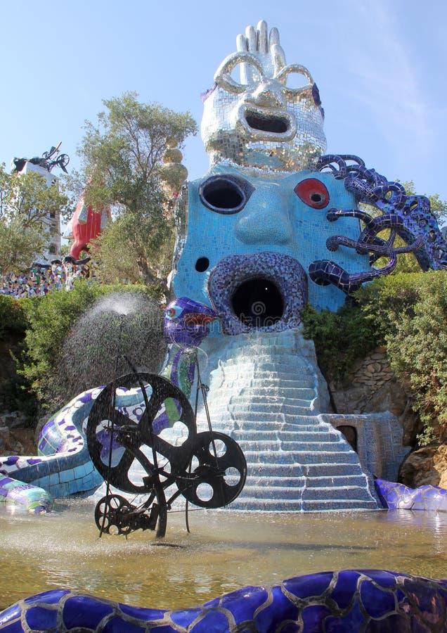 The garden tarot. A sculpture in Tarot Garden, a Park located in Garavicchio, near Pescia Fiorentina, village and town of Capalbio in Tuscany, Italy, designed by stock photos