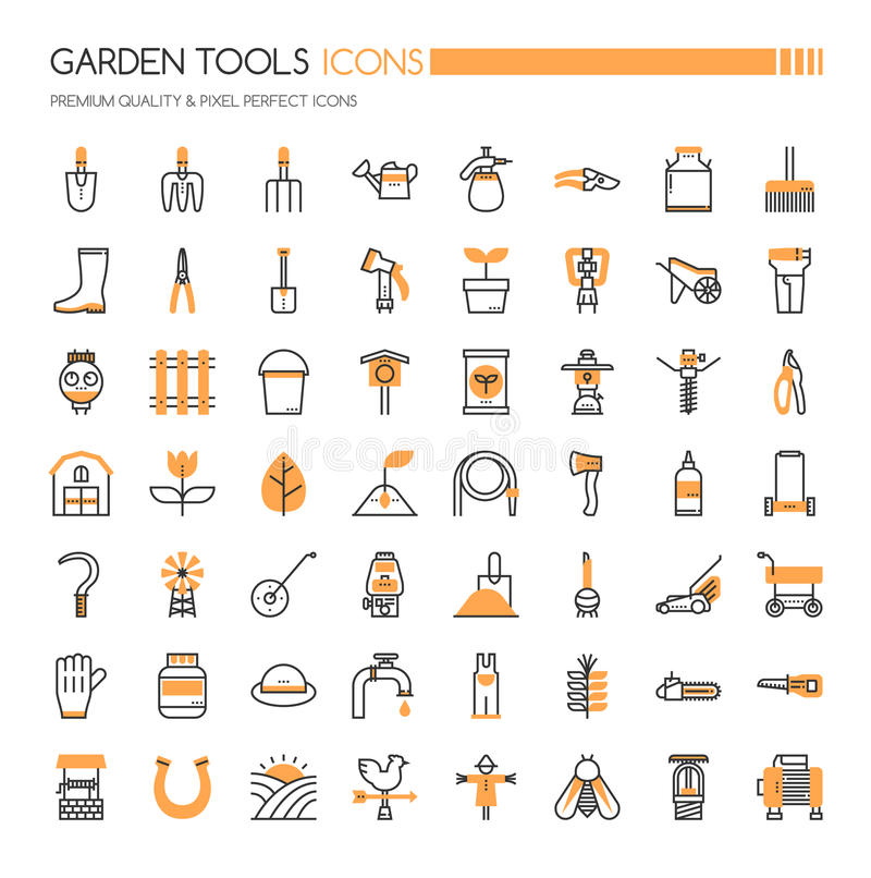 Free Garden Tool Icons Stock Photography - 94653312
