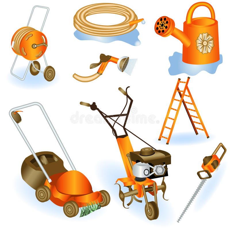 Garden tools 2 vector illustration