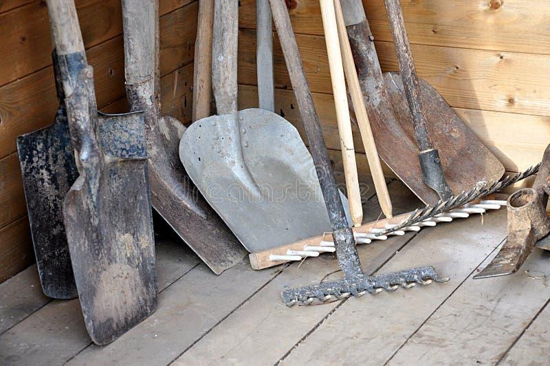 Garden Tools. Detail view, handle garden tools royalty free stock image