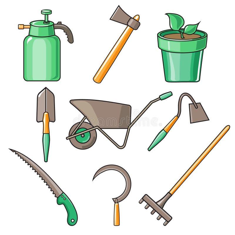 Garden Tools Flat Design Illustration Stock Vector Image