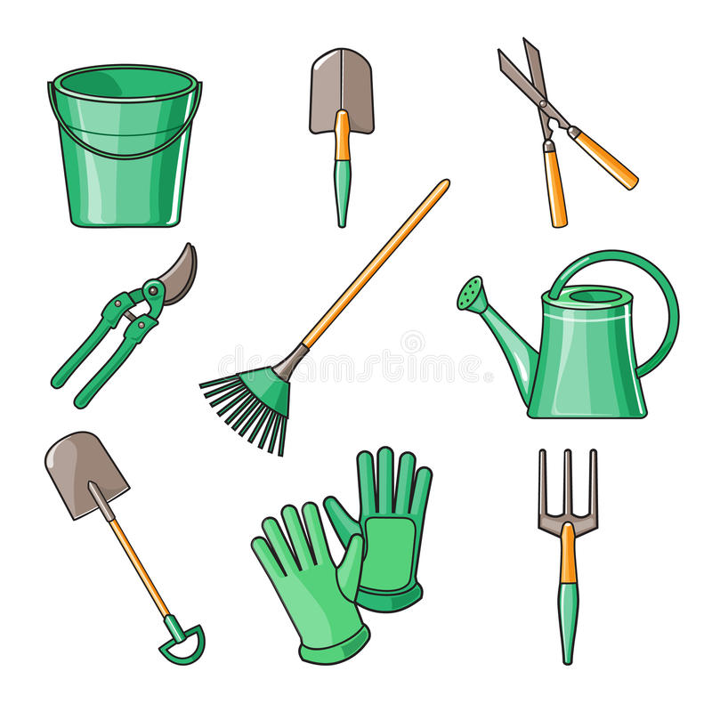 garden items. Download Garden Tools Flat Design Illustration Stock Vector - Of Botany, Cultivating: 55464171 Items Dreamstime.com