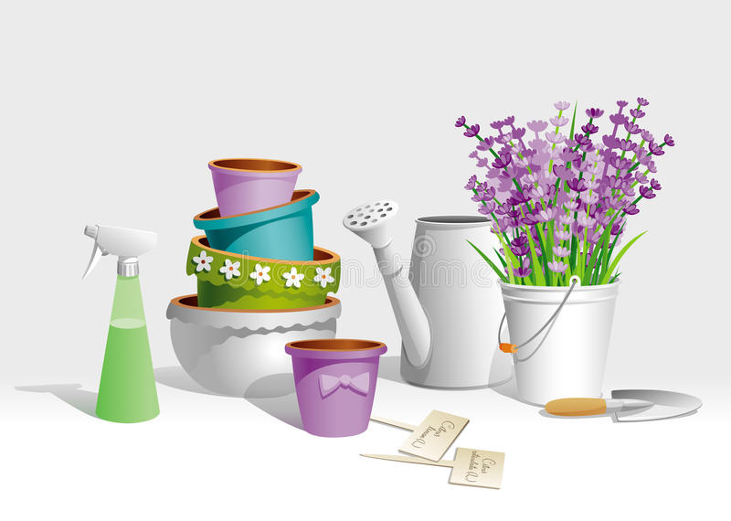 Garden tools vector illustration