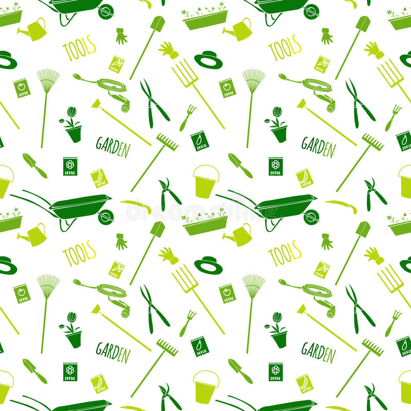 Download Garden Tools Seamless Pattern Stock Vector - Illustration of cultivate, grass: 39503234