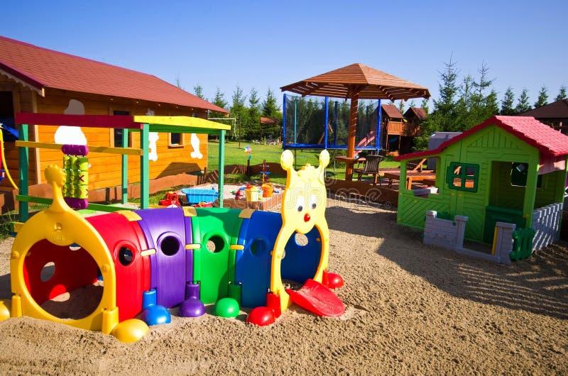 Garden toys for children stock photos