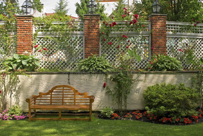 Download Garden Trellis stock photo. Image of landscaping, roses - 14874128