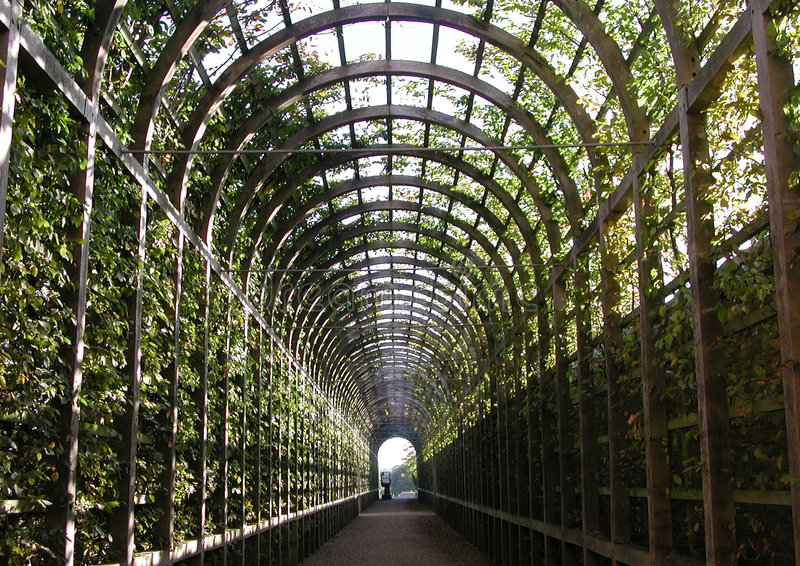 Garden Tunnel stock image