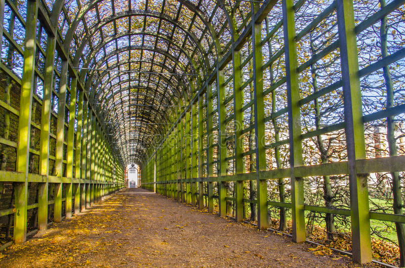 Garden tunnel in London royalty free stock images