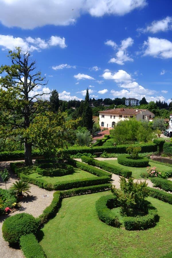 Garden in Tuscany, Italy stock photography
