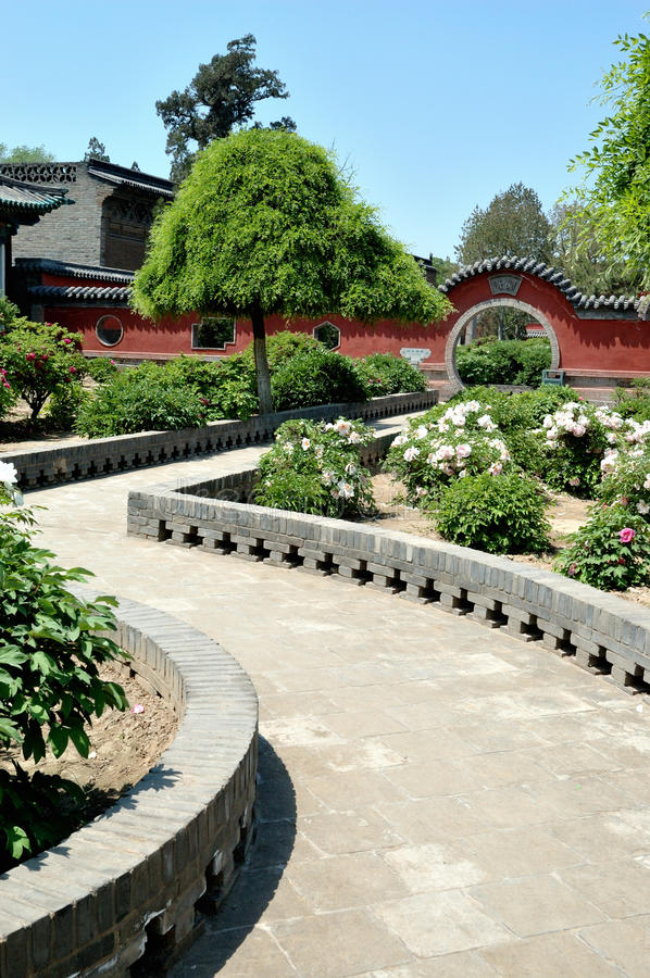 The garden by the Twin Pagoda royalty free stock photos