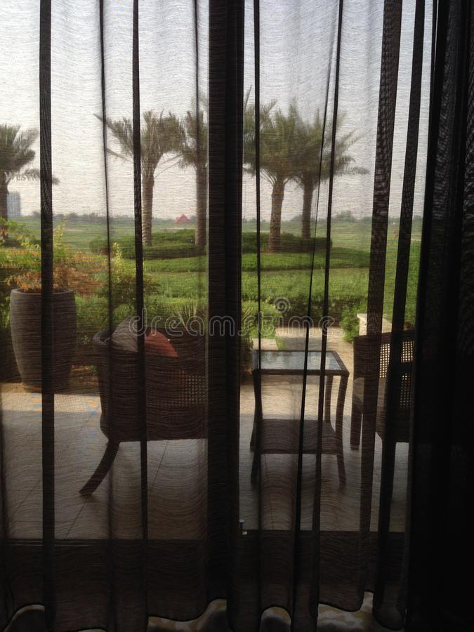 Garden View. Refreshing Weekend at Westin ABu Dhabi Golf Club, you can request for a room with balcony garden royalty free stock photos