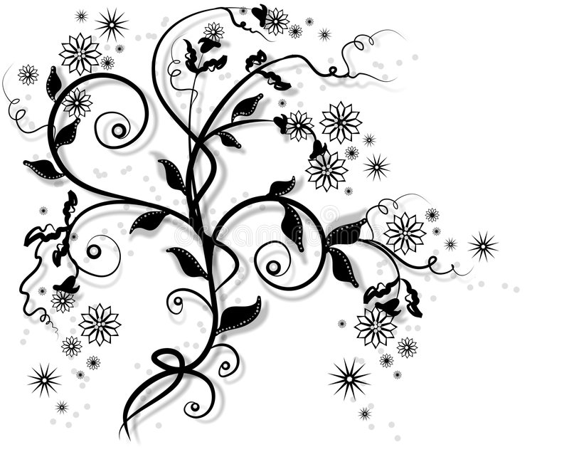 Garden vine. Abstract floral background royalty free illustration