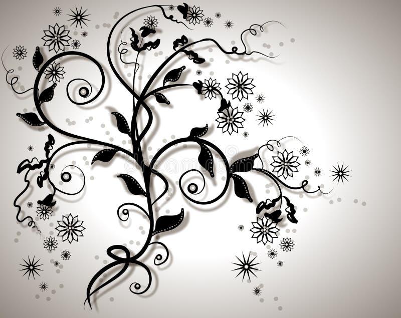 Garden vines. Abstract floral background vector illustration