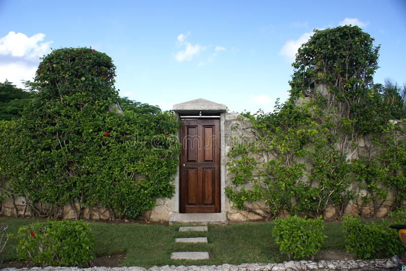 Download Garden Wall and Door stock photo. Image of stones, architecture - 11442558