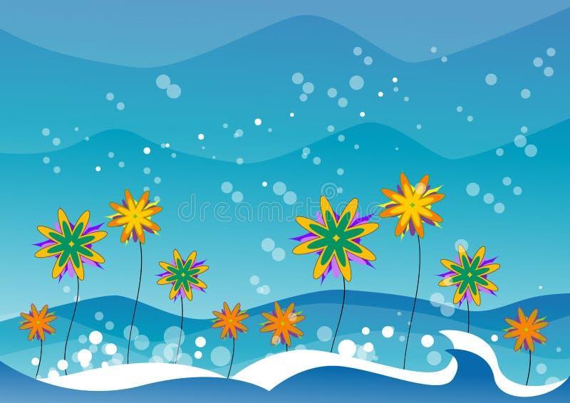 Garden and water vector illustration