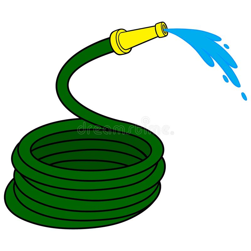 Garden Water Hose royalty free illustration