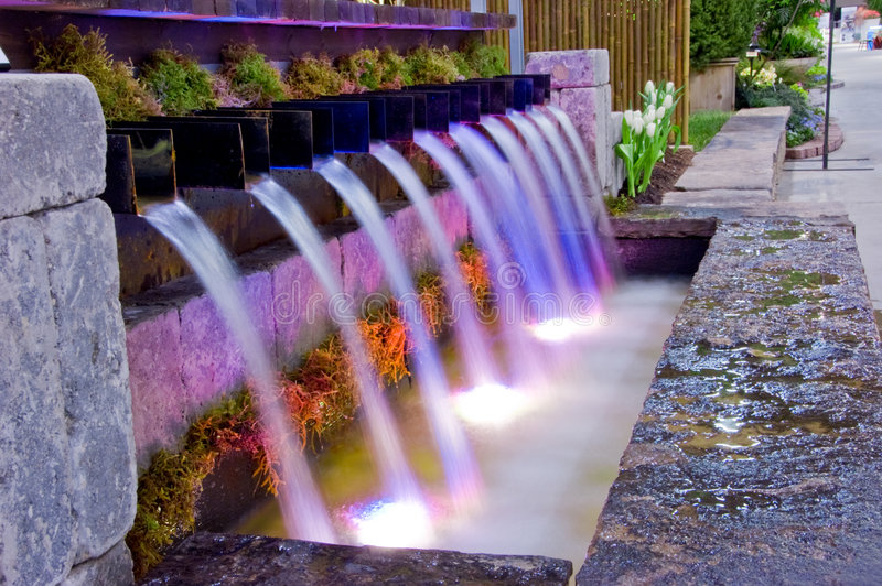 Download Garden Waterfall stock image. Image of falls, spray, tranquil - 4953249