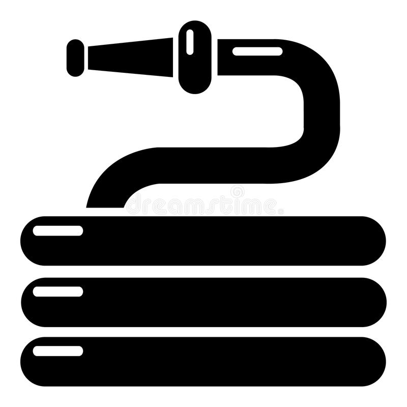 Garden watering hose icon , simple style stock illustration