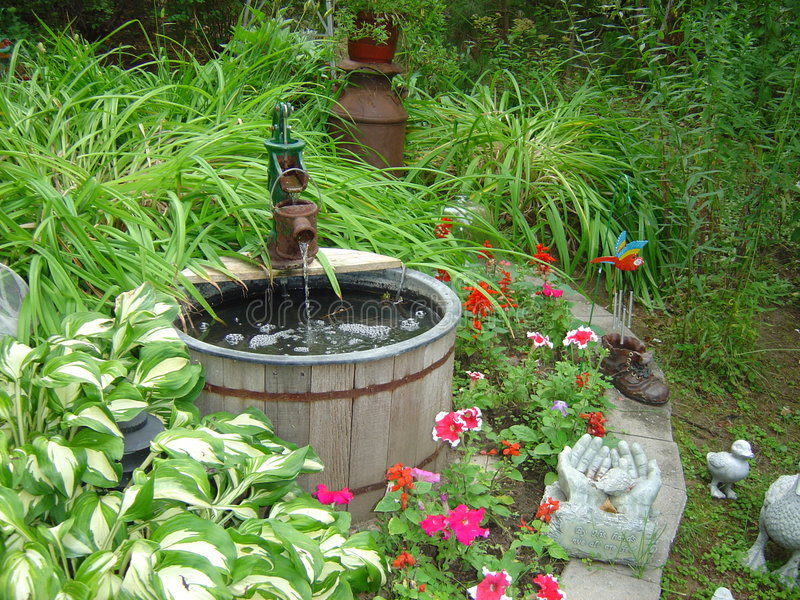 Garden Water Well royalty free stock photos