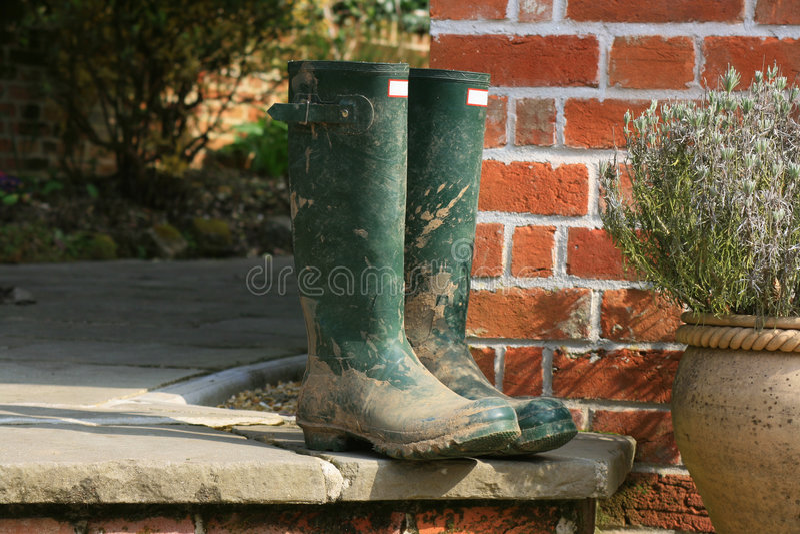Garden Wellingtons stock photos