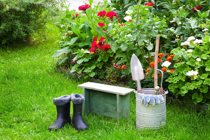 Download Garden works stock image. Image of gardener, botany, metal - 26803401