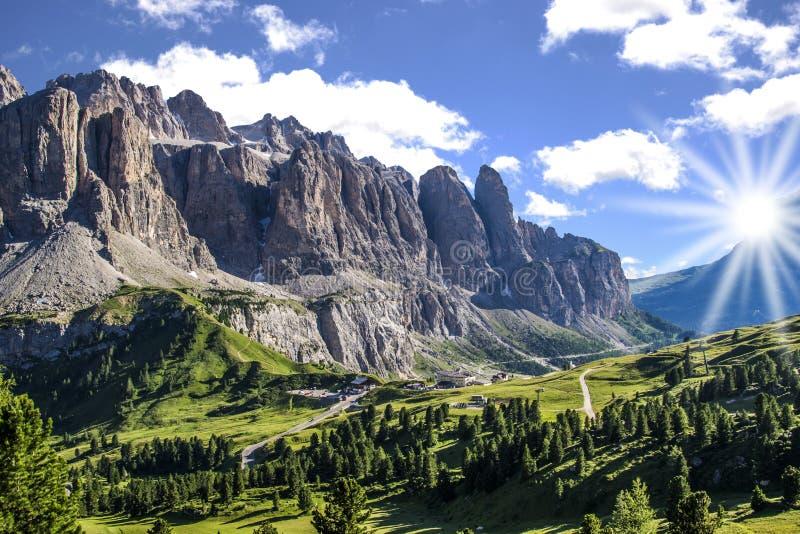 Gardena Pass. Val badia, Trentino-Alto Adige, Italy royalty free stock photos