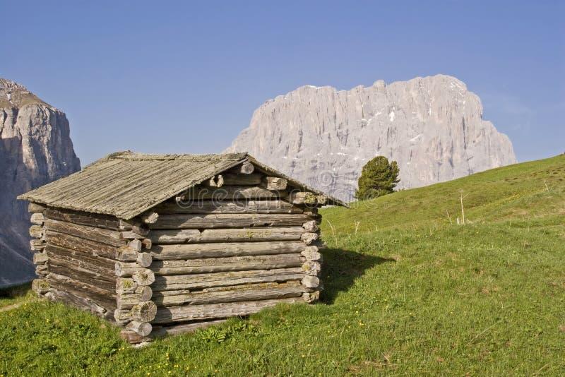 On the Gardena Pass in South Tyrol stock photos