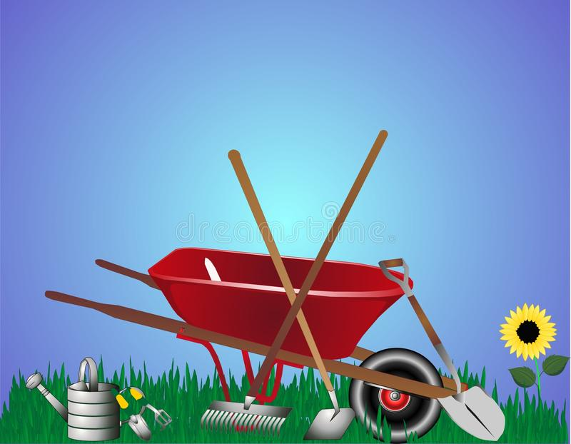 Download Gardeneing tools stock vector. Image of graphic, load - 10556663