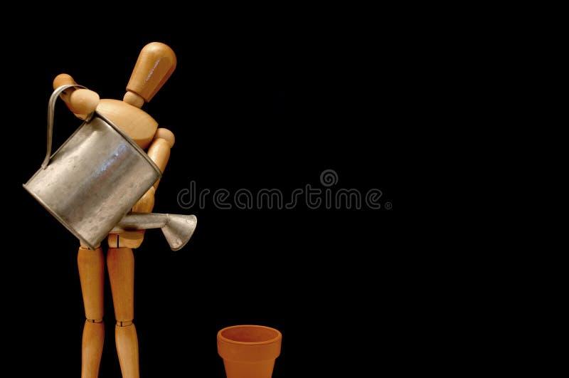 Download Gardener stock image. Image of spout, mannequin, metallic - 144937