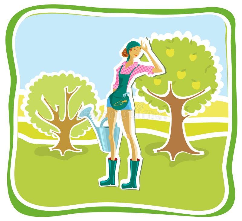 Download Gardener stock vector. Image of uniform, green, leaf - 15984633
