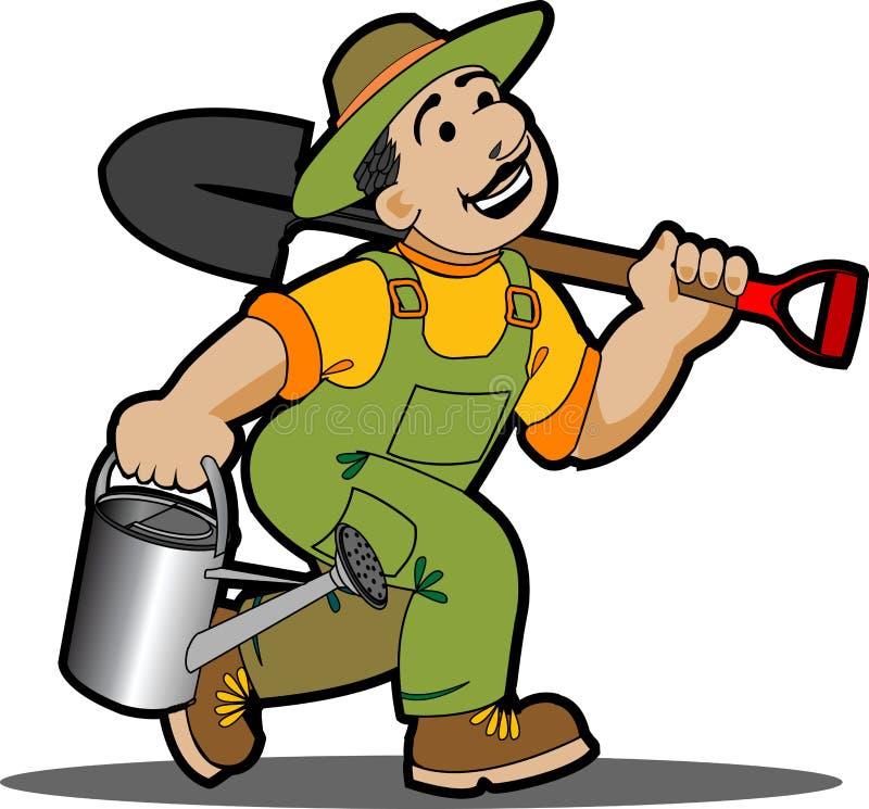 Gardener cartoon. vector illustration