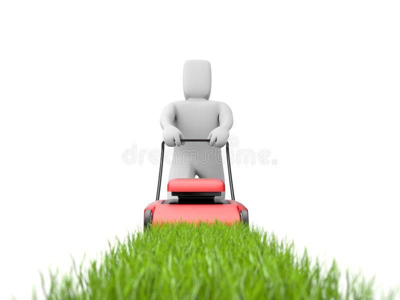 Download Gardener with mover stock illustration. Image of idea - 13509602