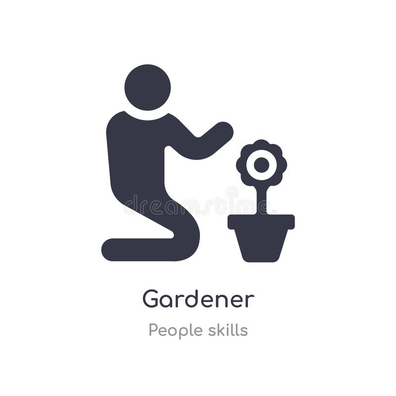gardener outline icon. isolated line vector illustration from people skills collection. editable thin stroke gardener icon on vector illustration